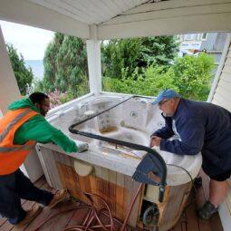 hot tub removal in kenosha, junk removal services, kenosha junk pickup